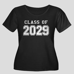 Class of 2029 (White) Women's Plus Size Scoop Neck