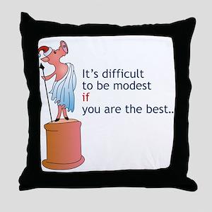 Modest Friend 2007 Throw Pillow