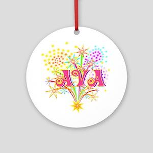 Sparkle Celebration Ava Ornament (Round)