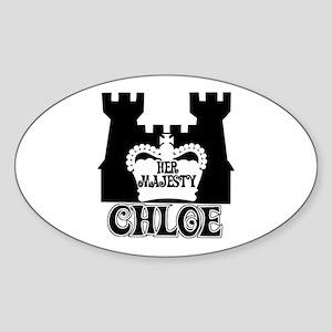 Her Majesty Chloe Oval Sticker