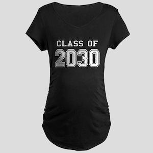 Class of 2030 (White) Maternity Dark T-Shirt