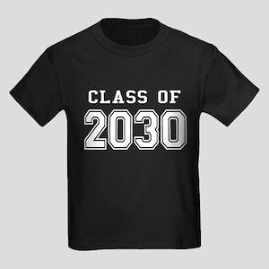 Class of 2030 (White) Kids Dark T-Shirt