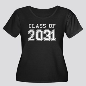 Class of 2031 (White) Women's Plus Size Scoop Neck