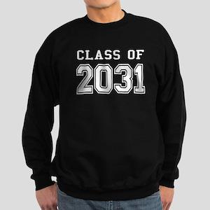 Class of 2031 (White) Sweatshirt (dark)