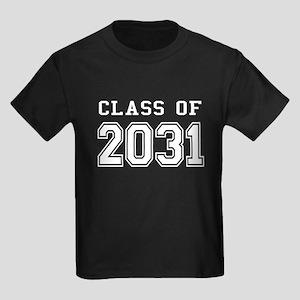 Class of 2031 (White) Kids Dark T-Shirt