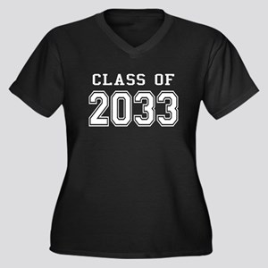 Class of 2033 (White) Women's Plus Size V-Neck Dar