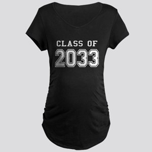 Class of 2033 (White) Maternity Dark T-Shirt
