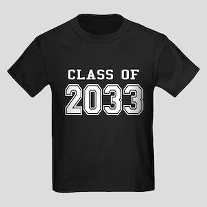 Class of 2033 (White) Kids Dark T-Shirt