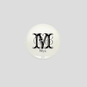 Mya: Fancy Monogram Mini Button