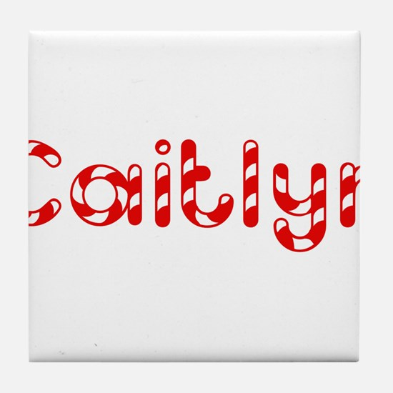 Caitlyn - Candy Cane Tile Coaster