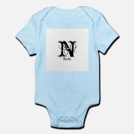 Nadia: Fancy Monogram Infant Bodysuit