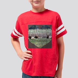 Elk Hunters Valentine Youth Football Shirt
