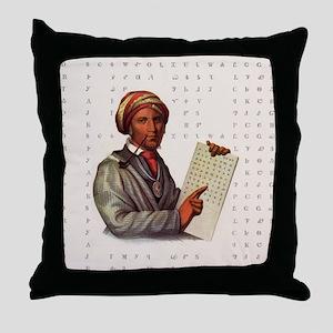 Sequoyah, The Cherokee Scholar Throw Pillow