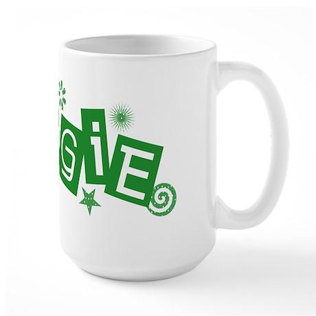 Green Veggie Large Mug