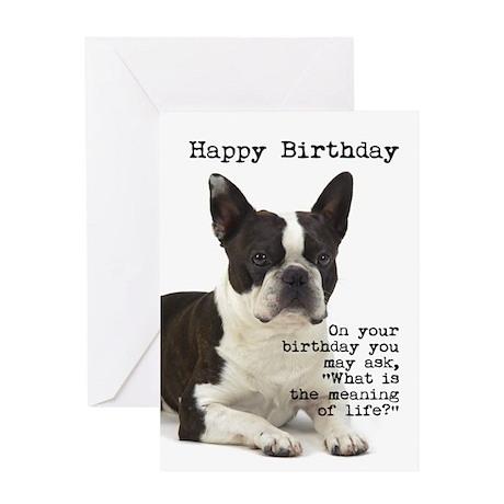 boston terrier birthday ecard