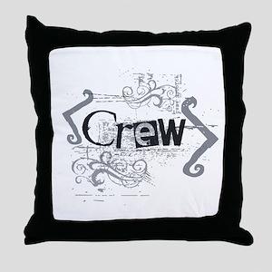 Grunge Crew Throw Pillow