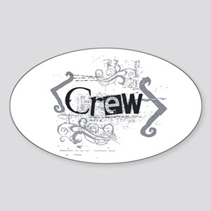 Grunge Crew Oval Sticker