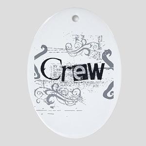 Grunge Crew Oval Ornament