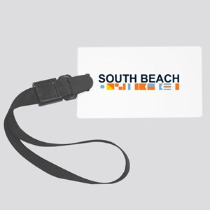 South Beach - Nautical Flags. Large Luggage Tag