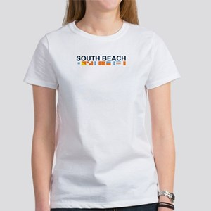 South Beach - Nautical Flags. Women's T-Shirt