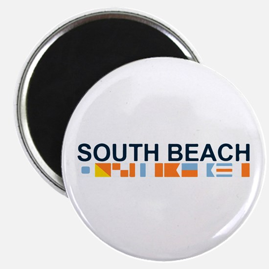South Beach - Nautical Flags. Magnet