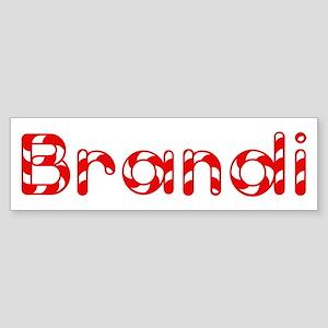 Brandi - Candy Cane Bumper Sticker
