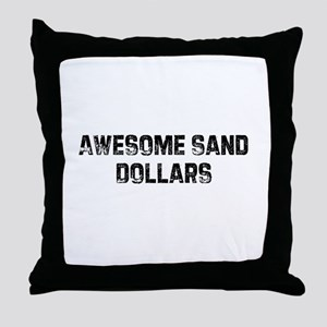 Awesome Sand Dollars Throw Pillow