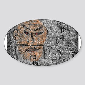 Ancient Man in a Dream by Bre Oval Sticker