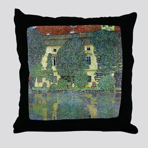 Schloss Kammer By Gustav Klimt Throw Pillow