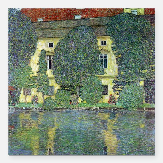 "Schloss Kammer By Gustav Square Car Magnet 3"" x 3"""