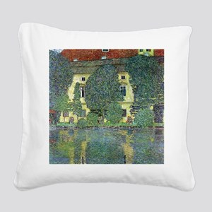 Schloss Kammer By Gustav Klim Square Canvas Pillow