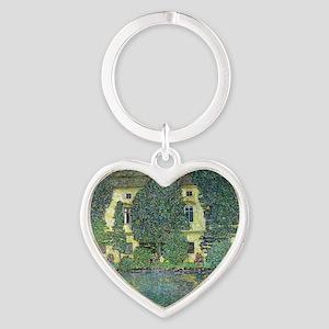 Schloss Kammer By Gustav Klimt Heart Keychain