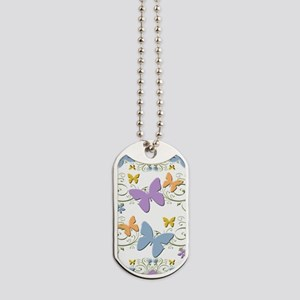 Floral Butterfly Medley Dog Tags