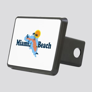Miami Beach - Map Design. Rectangular Hitch Cover