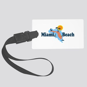 Miami Beach - Map Design. Large Luggage Tag
