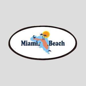 Miami Beach - Map Design. Patches