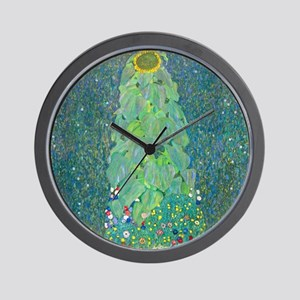 Sunflower by Gustav Klimt Wall Clock