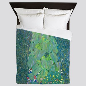Sunflower by Gustav Klimt Queen Duvet