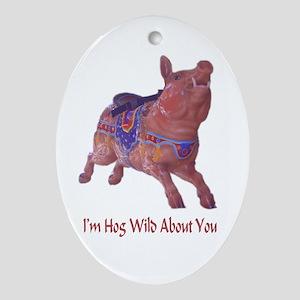 hog wild Oval Ornament