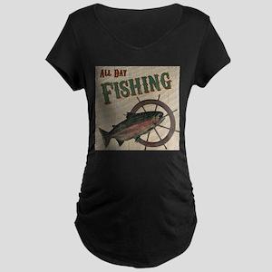 All Day Fishing Maternity T-Shirt