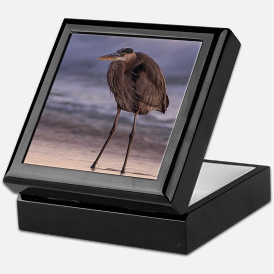 Blue Heron Sunset Keepsake Box