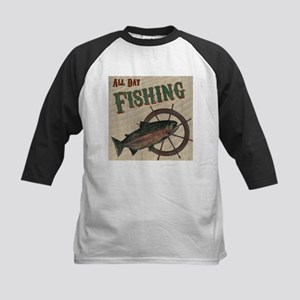 All Day Fishing Baseball Jersey