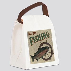 All Day Fishing Canvas Lunch Bag