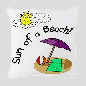 sunofabeach Woven Throw Pillow