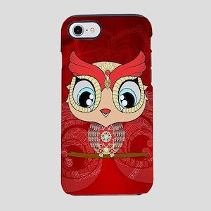 Cute colorful owl, mandala design iPhone 7 Tough C