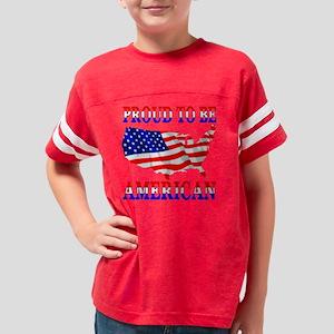 Proud_2b_USA_Blk Youth Football Shirt