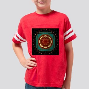 Mandalas for Meditation Youth Football Shirt