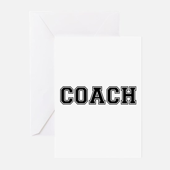 Coach text Greeting Cards (Pk of 20)