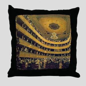Old Burgtheater by Gustav Klimt Throw Pillow