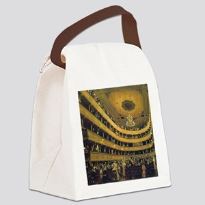 Old Burgtheater by Gustav Klimt Canvas Lunch Bag